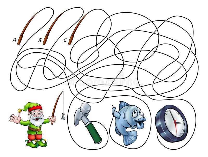 Maze Lines Game dei bambini dei bambini illustrazione di stock