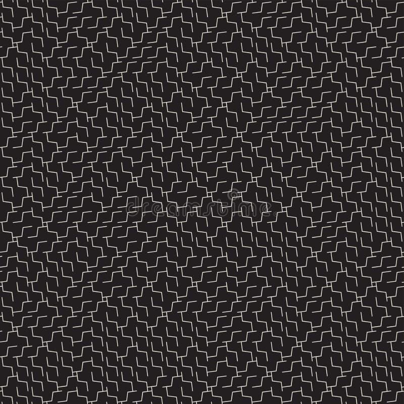 Maze Lines irregular Diseño geométrico abstracto del fondo Modelo caótico blanco y negro inconsútil del vector libre illustration