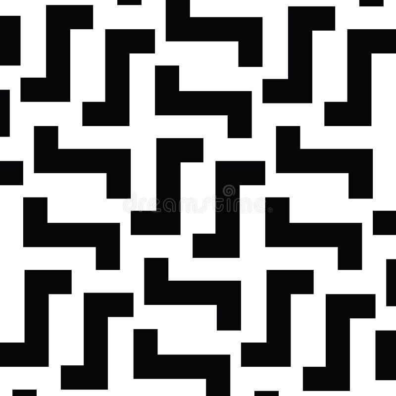 Maze Lines irregular Modelo blanco y negro del vector libre illustration