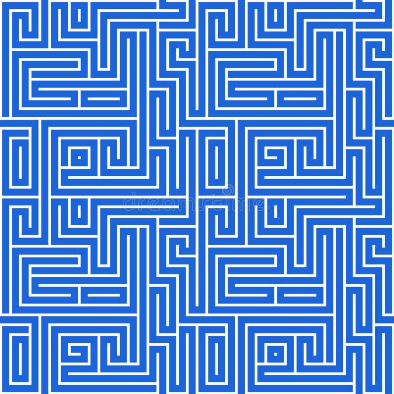 Download Maze Pattern stock illustration. Illustration of background - 12467807