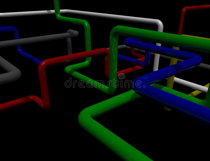 Maze Of Pipes Royalty Free Stock Photos
