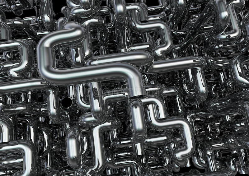 Maze of pipes background vector illustration