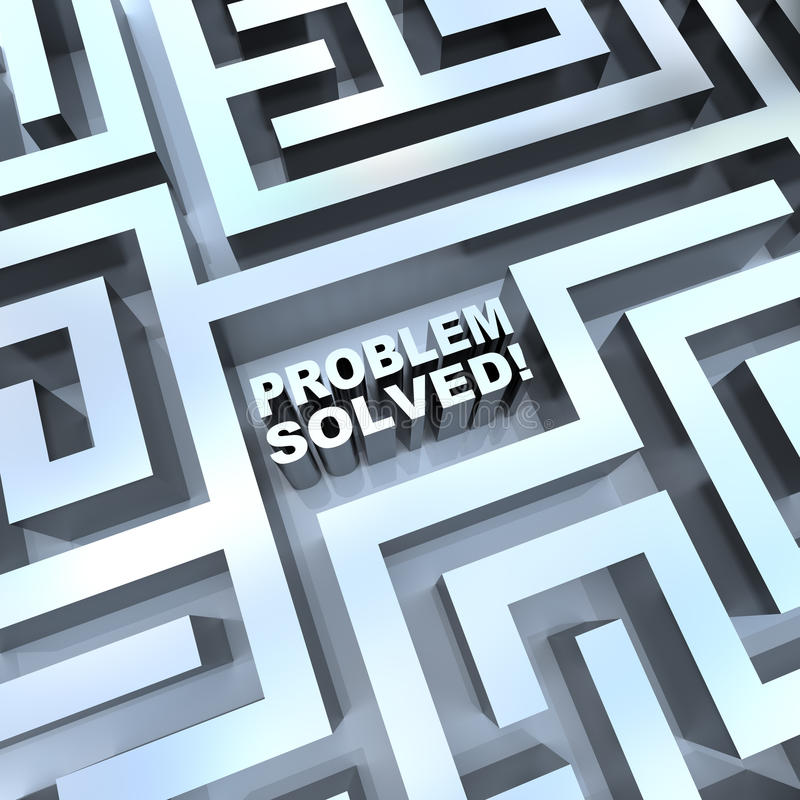 Maze - Problem Solved royalty free illustration