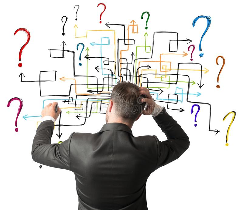 Maze of questions stock photos