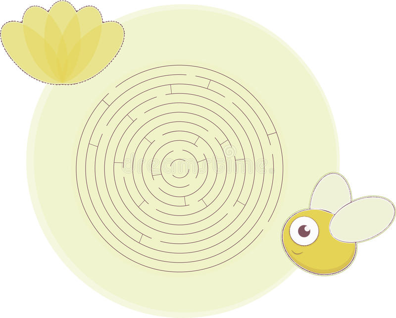 Download Maze's bee stock vector. Image of creative, artistic - 23361939