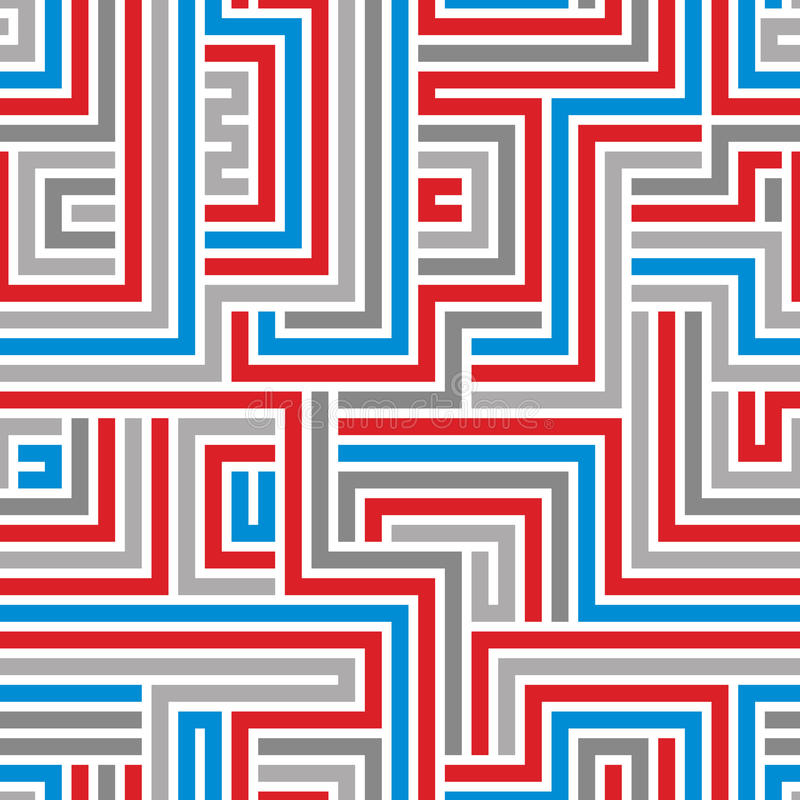 Download Maze seamless pattern. stock vector. Image of repeat - 43599868