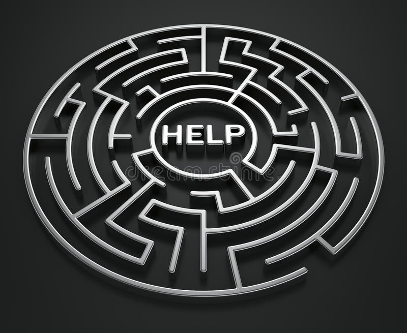 Download Maze - Search For Help Royalty Free Stock Photos - Image: 18864108