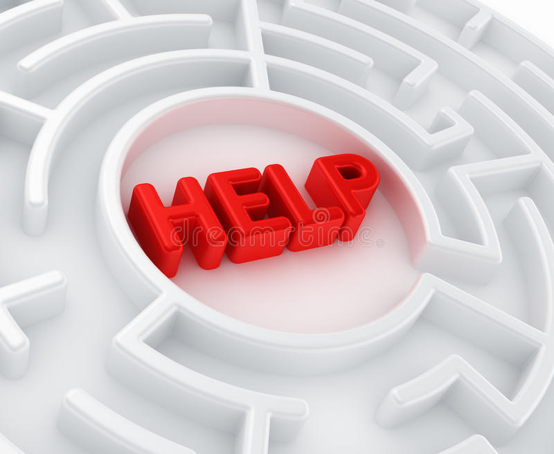 Download Maze - Search For Help Royalty Free Stock Photos - Image: 18864118