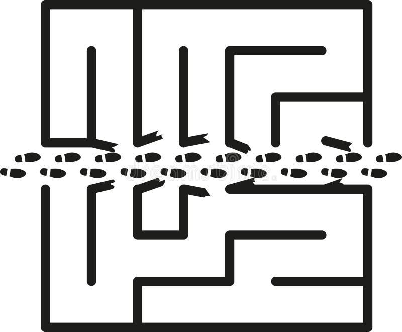 Maze Shortcut stock de ilustración