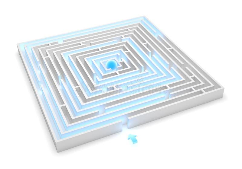 Download Maze Solution stock illustration. Image of background - 34926609