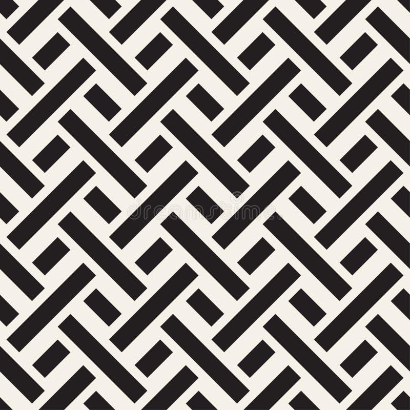Maze Tangled Lines Contemporary Graphic Modelo blanco y negro inconsútil del vector libre illustration