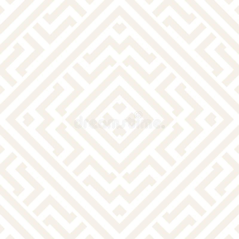 Maze Tangled Lines Contemporary Graphic Progettazione geometrica astratta del fondo Vector il reticolo senza giunte illustrazione vettoriale