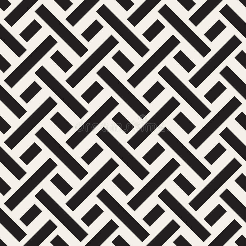 Maze Tangled Lines Contemporary Graphic Vector naadloos zwart-wit patroon royalty-vrije illustratie