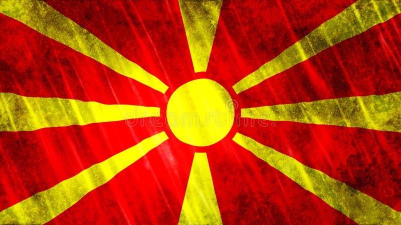 Mazedonien-Flagge stockbild