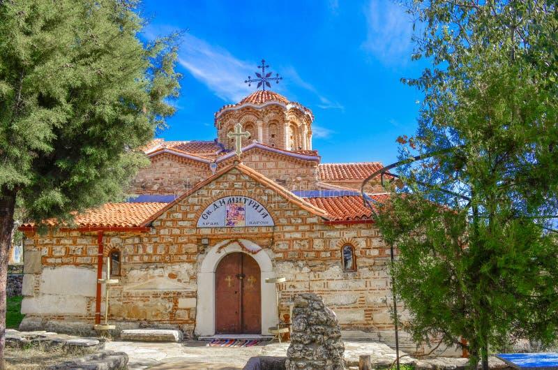 Mazedonien Prilep - Heiliges Dimitrij-Kirche stockfotos