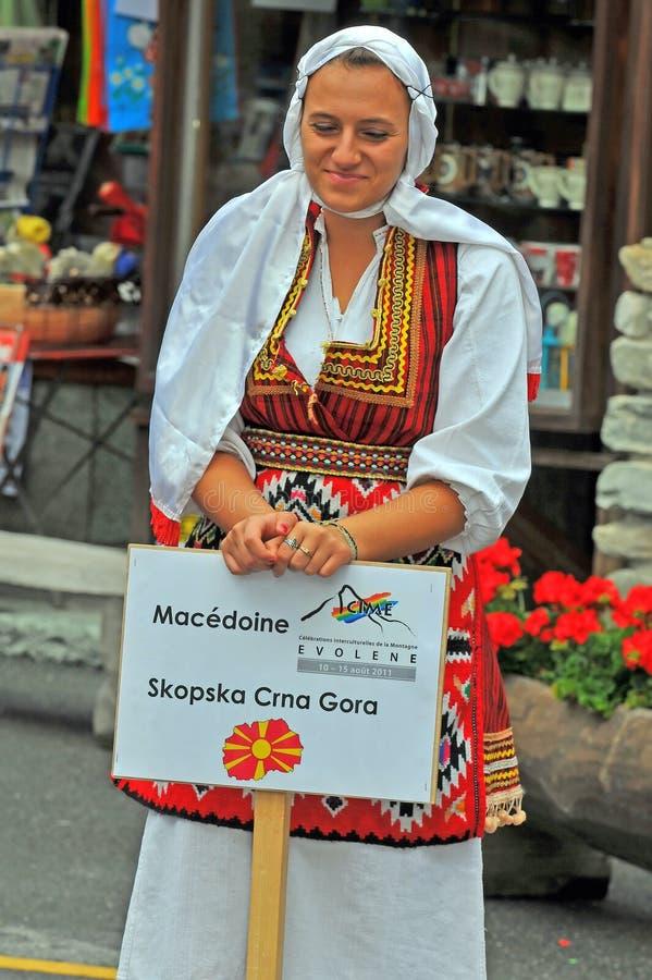 Mazedonische Tanz-Gruppe lizenzfreies stockfoto