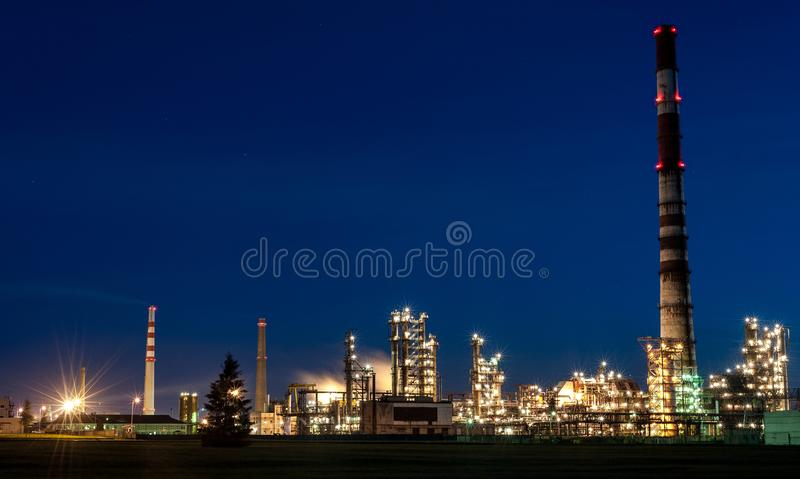 MAZEIKIAI, LITHUANIA - AUGUST 11, 2012: Orlen Industry. ORLEN Lietuva is a Polish company centered on the Mazeikiai oil refinery a stock images