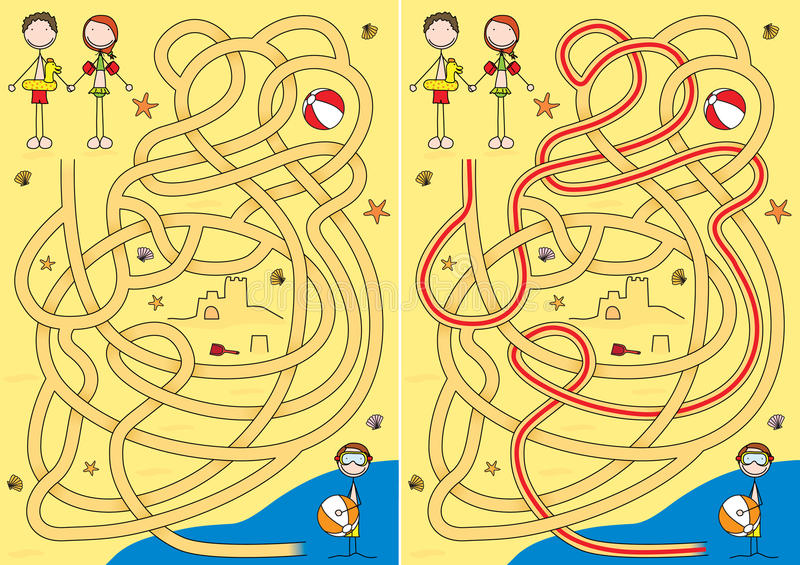 mazesommar vektor illustrationer