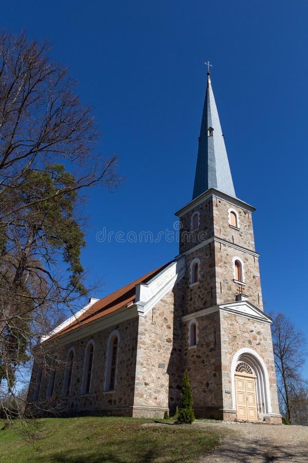 Mazirbe路德教会,拉脱维亚 图库摄影