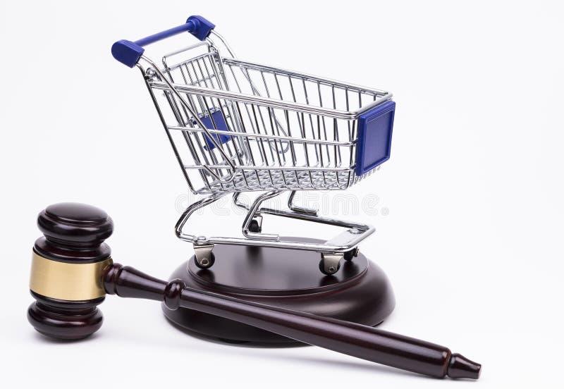 Download Mazo De La Justicia Con El Carro De Compras Foto de archivo - Imagen de carro, consumidor: 42437392