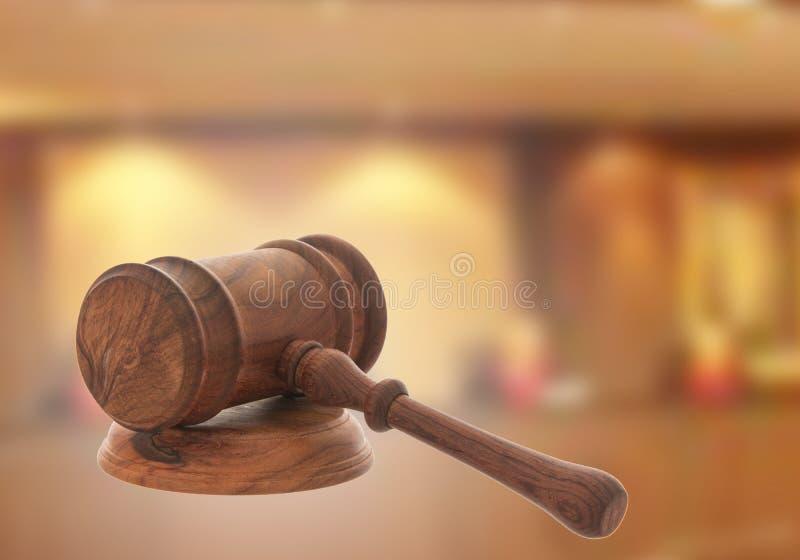 Mazo de madera del juez foto de archivo