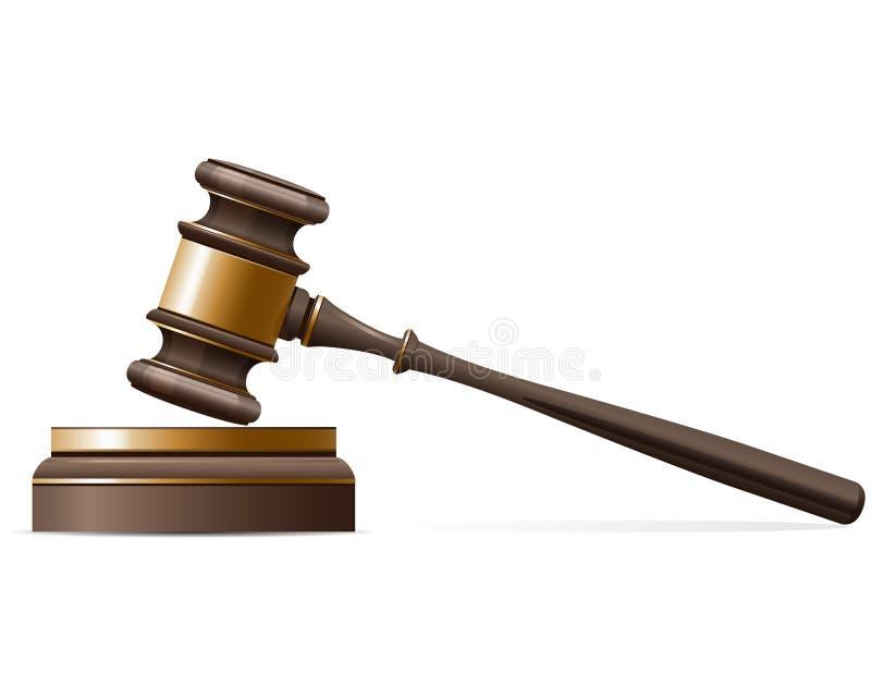 Mazo del juez ilustración del vector