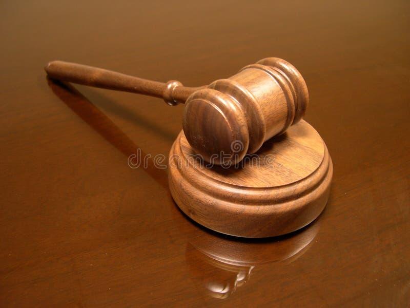 Mazo del juez foto de archivo libre de regalías