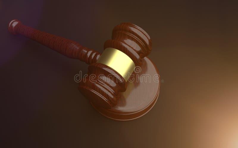 Mazo del juez y de la subasta fotografía de archivo