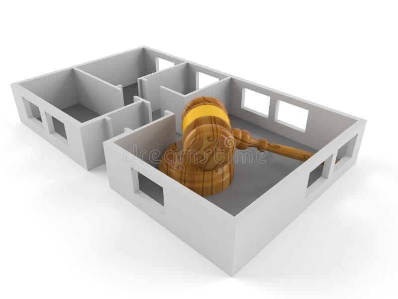 Mazo dentro del plan de la casa libre illustration