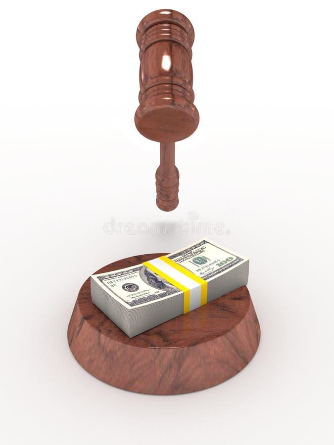Mazo y dinero del juez libre illustration