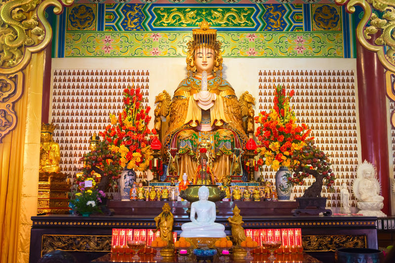 Download Mazu Goddess Statue And Altar In The Chinese Temple Editorial Image - Image: 98764280