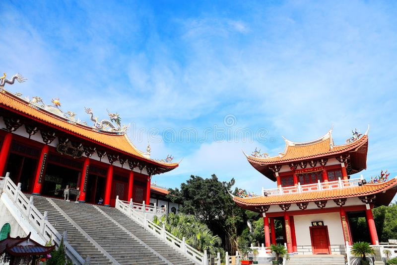 Mazu temple , Tianhou temple , The God of the sea in China. Mazu, the sea goddess belief centered on the southeastern coast of China, is also called the heavenly royalty free stock images