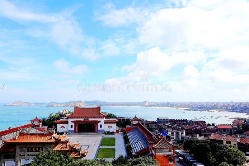 Mazu tempel, Tianhou tempel, guden av havet i Kina arkivfoto