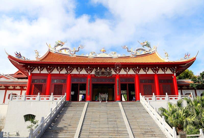 Mazu tempel, Tianhou tempel, guden av havet i Kina royaltyfri fotografi