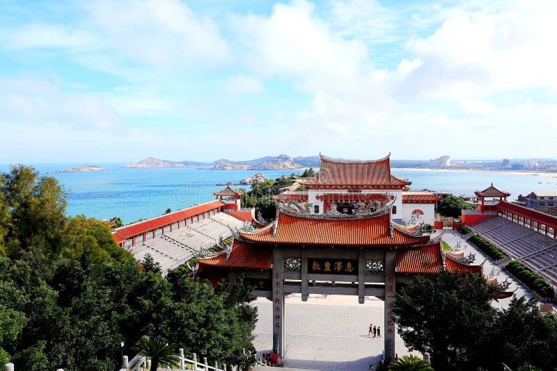 Mazu tempel, Tianhou tempel, guden av havet i Kina fotografering för bildbyråer