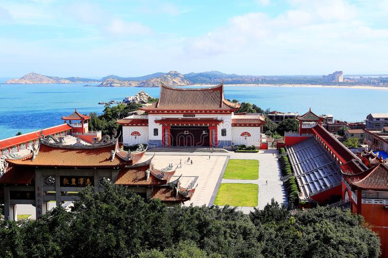 Mazu temple , Tianhou temple , The God of the sea in China. Mazu, the sea goddess belief centered on the southeastern coast of China, is also called the heavenly royalty free stock photos