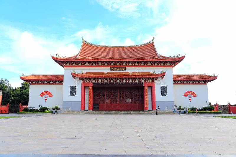 Mazu temple , Tianhou temple , The God of the sea in China. Mazu, the sea goddess belief centered on the southeastern coast of China, is also called the heavenly stock photography