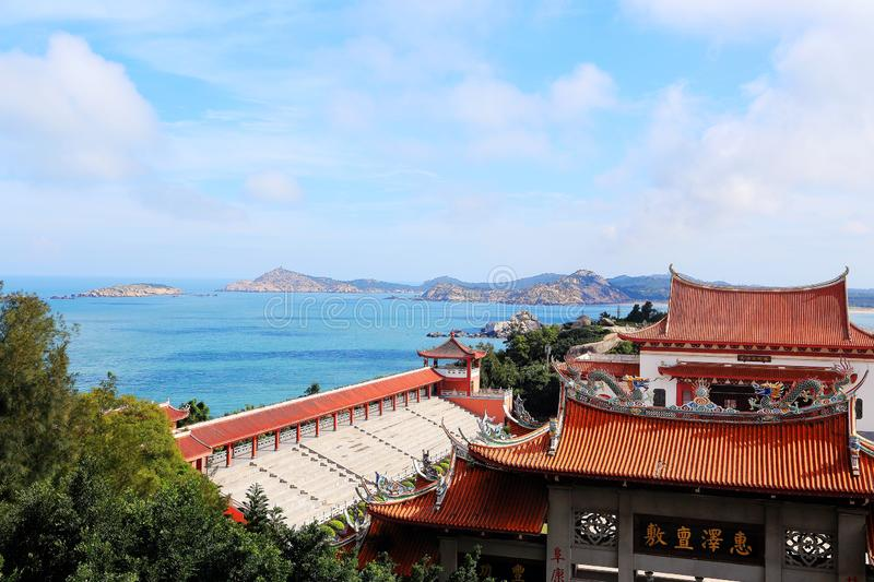 Mazu temple , Tianhou temple , The God of the sea in China. Mazu, the sea goddess belief centered on the southeastern coast of China, is also called the heavenly stock image