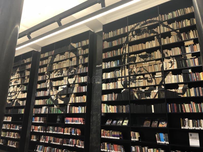Mazvydas library in Vilnius stock image