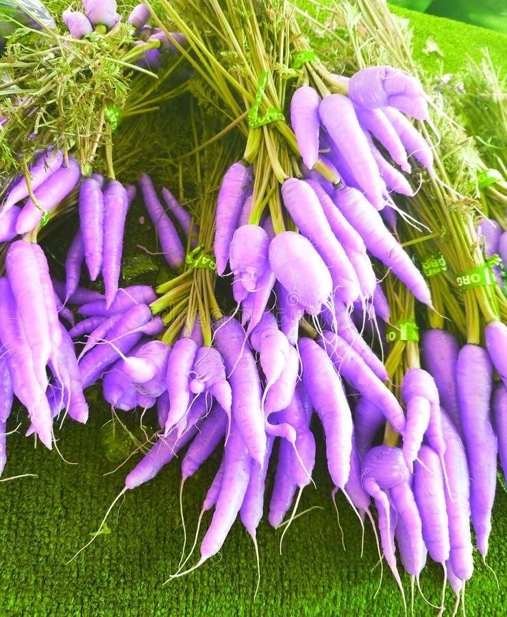 Mazzi porpora delle carote fotografie stock libere da diritti