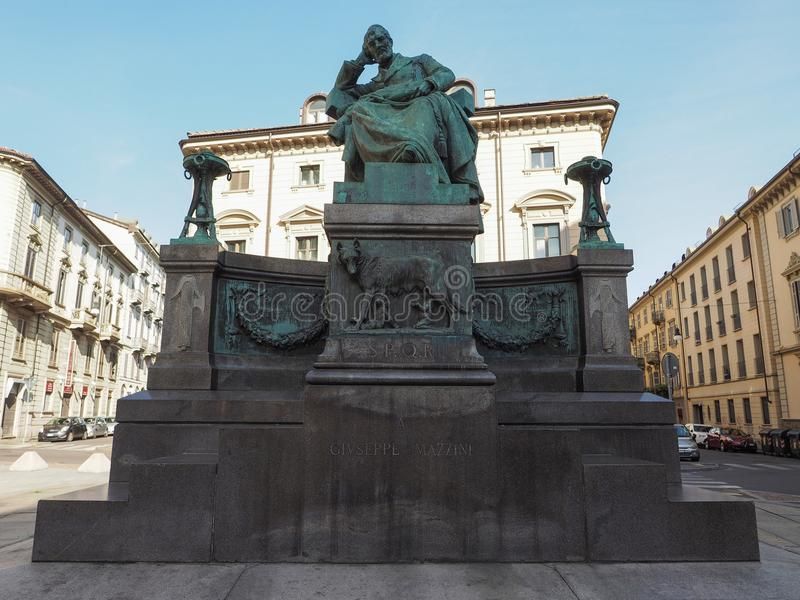 Mazzini-Monument in Turin stockbild