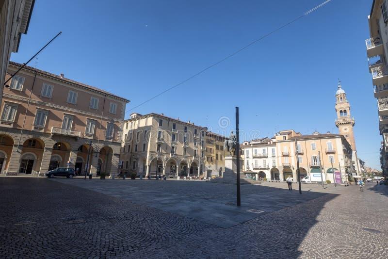 Mazzinivierkant in Casale Monferrato, Piemonte stock afbeelding