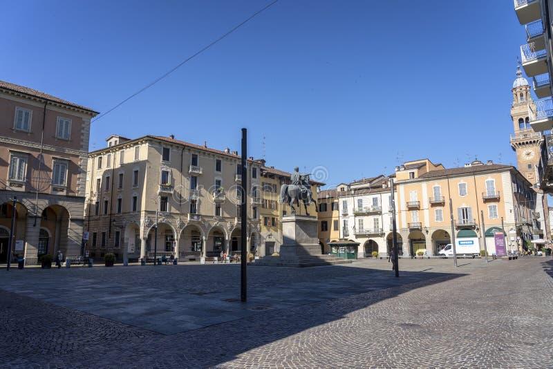 Mazzinivierkant in Casale Monferrato, Piemonte stock foto's