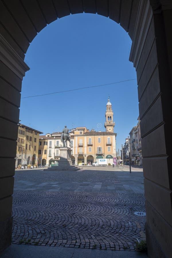 Mazzinivierkant in Casale Monferrato, Piemonte royalty-vrije stock afbeeldingen