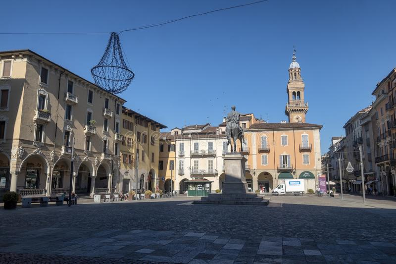 Mazzinivierkant in Casale Monferrato, Piemonte royalty-vrije stock foto