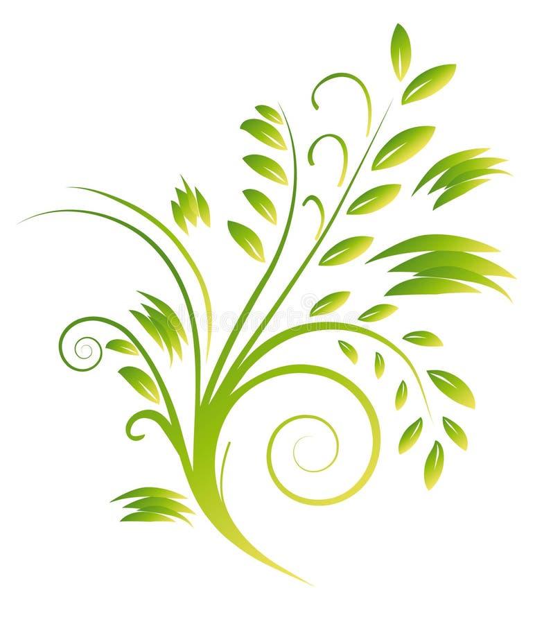 Mazzo astratto delle arricciature verdi illustrazione di stock