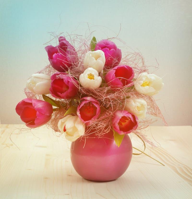 Mazzo d'annata del tulipano fotografie stock