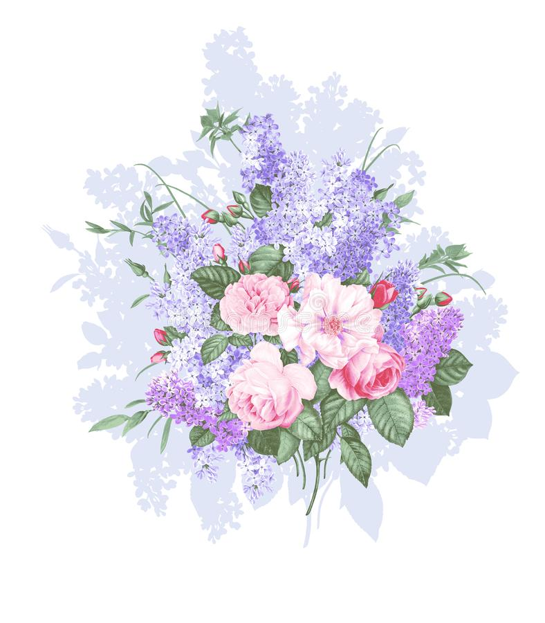 Mazzo d'annata isolato su fondo bianco royalty illustrazione gratis