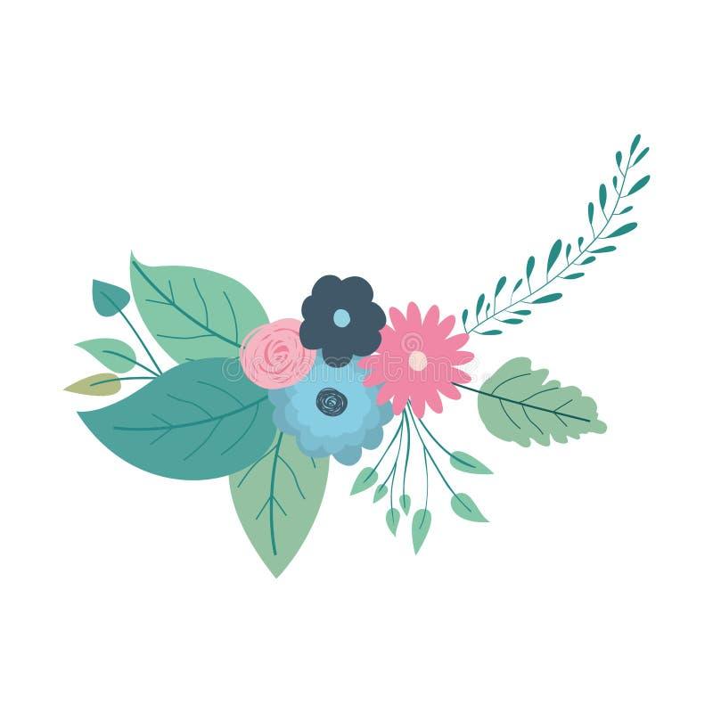 Mazzo decorativo multicolore con i bei ornamenti dei fiori illustrazione vettoriale