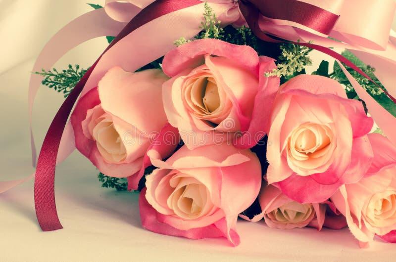 Mazzo dei fiori di rosa fotografia stock